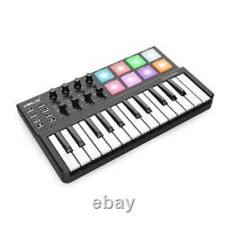 Best Mini Piano With Drum Pad USB 25-Key Keyboard Drum Pad And Midi Controller