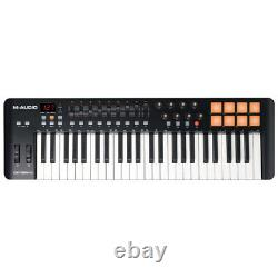 M-Audio Oxygen49 USB MIDI Pad Portable Keyboard Controller with Ableton Live Black