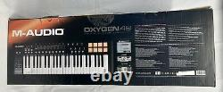 M-Audio Oxygen 49, 49-Key USB/MIDI Keyboard Controller with 8 Trigger Pads