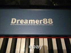 Midiplus MIDI Piano Keyboard Controller Dreamer 88 USB Port Cable Full Size Used