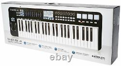 Samson Graphite 49 Key USB MIDI DJ Keyboard Controller with Aftertouch/Fader+Bench