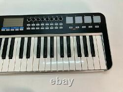 Samson Graphite 49 Key USB MIDI DJ Keyboard Controller with Aftertouch/Fader/Pads