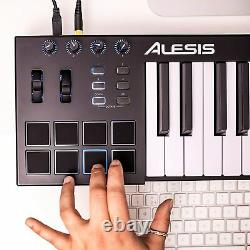 Alesis V25 25 Key Usb MIDI Keyboard Controller With Backlit Pads, 4 Knobs And