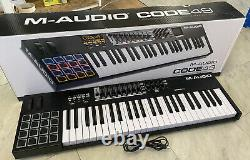 M-audio Code 49 MIDI Clavier Usb Controller 49 Key Drum Pads Touch Pad Boxed