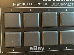 Remote 25sl Withpads Novation Usb Compact Controller MIDI Clavier